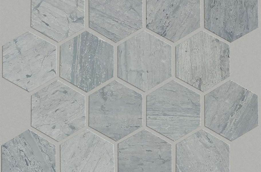 Shaw Chateau Geometrics Natural Stone Tile - Hexagon Blue Grigio