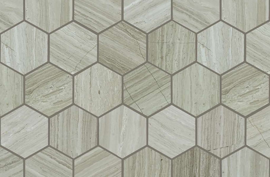Shaw Chateau Geometrics Natural Stone Tile - Hexagon Rockwood