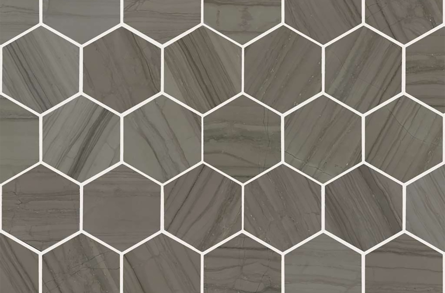 Shaw Chateau Geometrics Natural Stone Tile - Hexagon Urban Grey