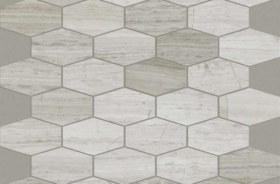 Shaw Chateau Geometrics Natural Stone Tile - Stretch Hex Rockwood