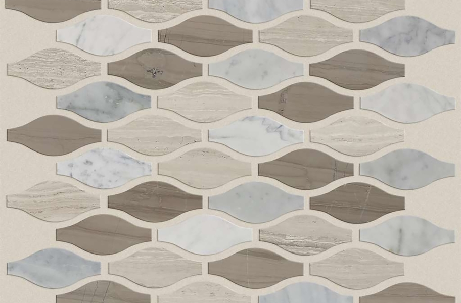 Shaw Chateau Natural Stone Ornamentals Tile - Ornament Bianco Barrara / Rockwood / Urban Grey
