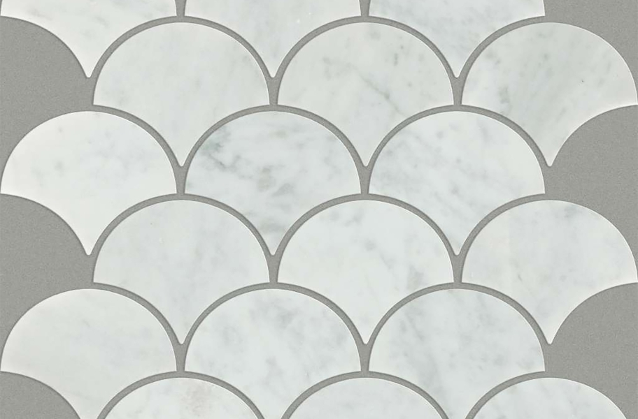 Shaw Chateau Natural Stone Ornamentals Tile - Fan Bianco Carrara