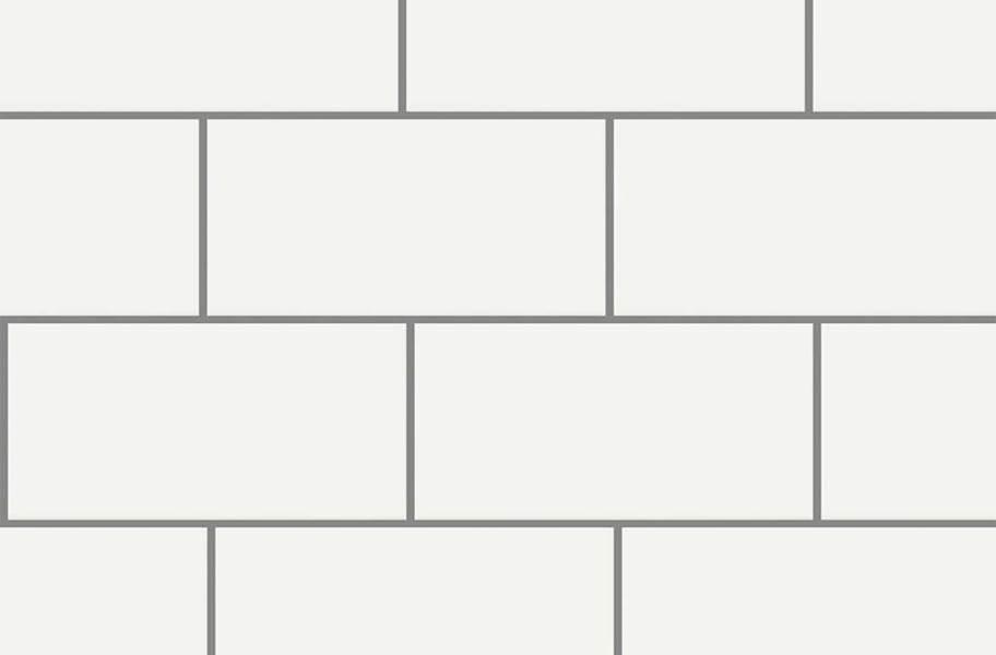 Shaw Elegance Subway Tiles - 3x6 Beveled White Gloss