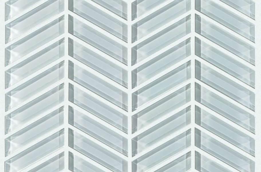Shaw Cardinal Glass Mosaic - Cloud Chevron