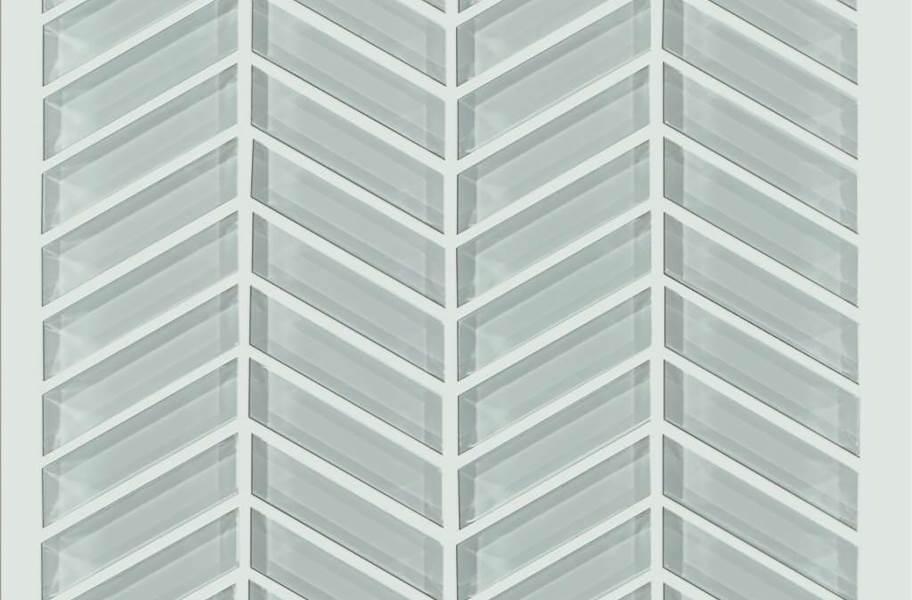 Shaw Cardinal Glass Mosaic - Shadow Chevron