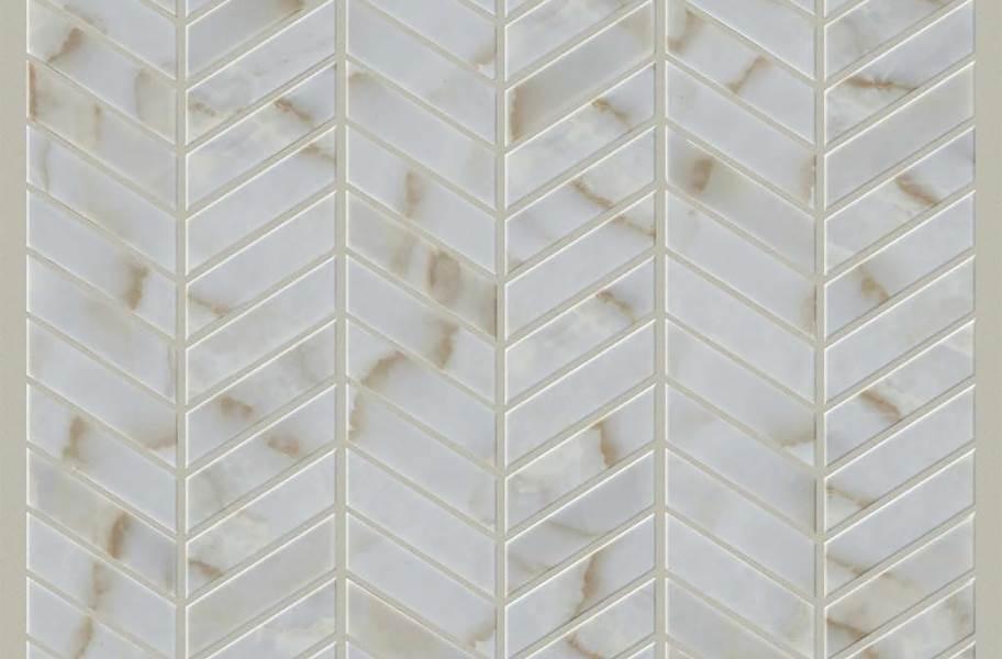 Shaw Gala Glass Mosaic - Chevron Organza