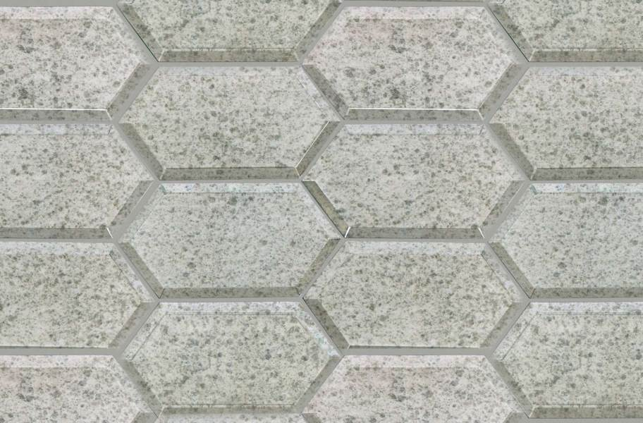 Shaw Lucerne Glass Mosaic - Antique Silver