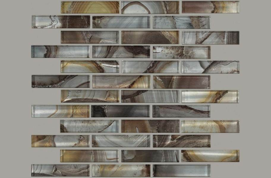 Shaw Mercury Glass Mosaic - Pewter