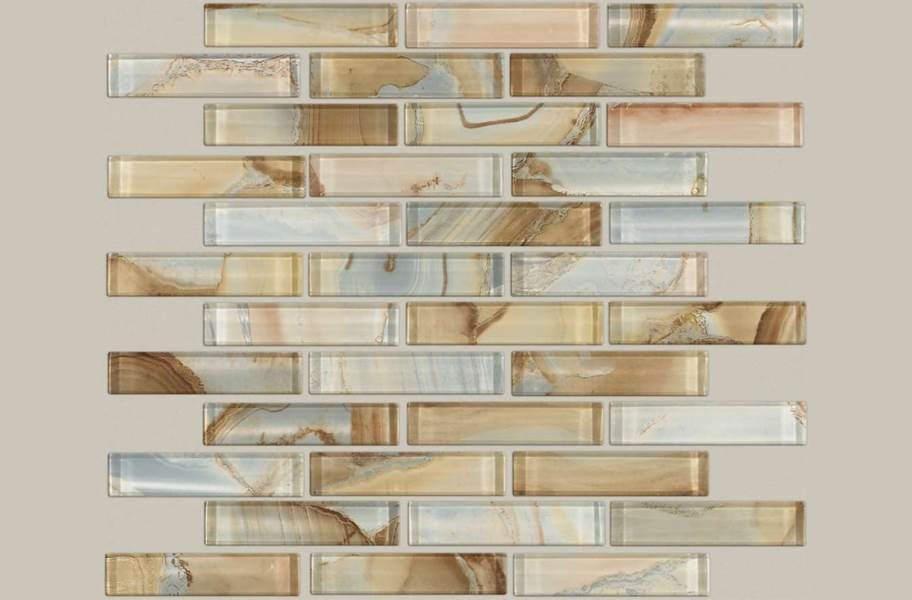 Shaw Mercury Glass Mosaic - Amber