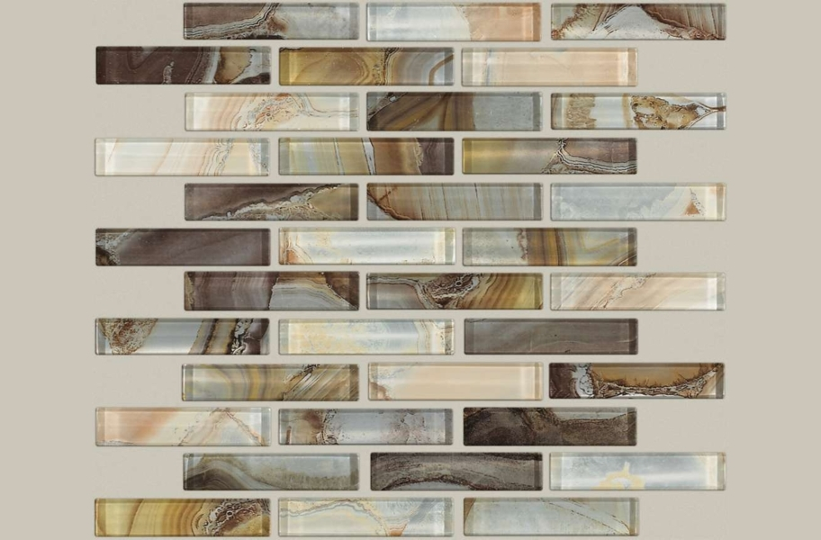 Shaw Mercury Glass Mosaic - Bronzed