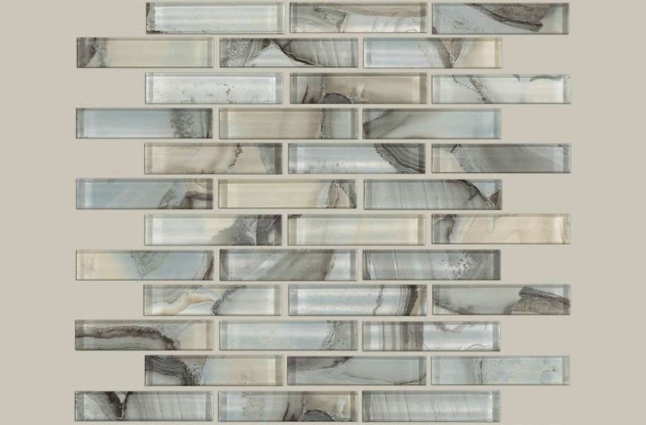 Shaw Mercury Glass Mosaic - Ice