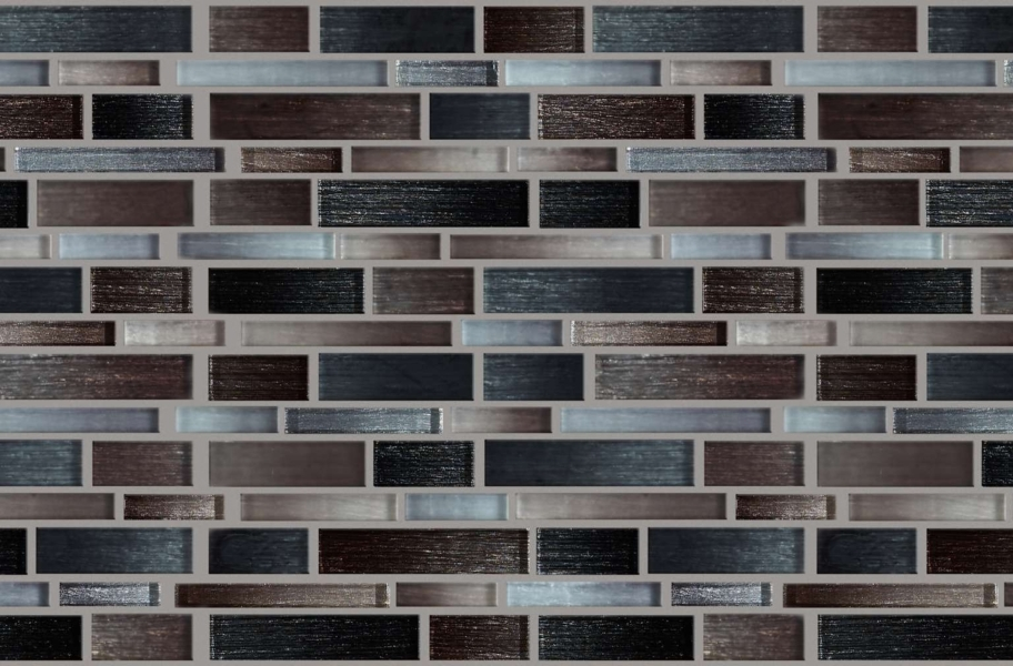 Shaw Silverton Glass Mosaic - Chocolate