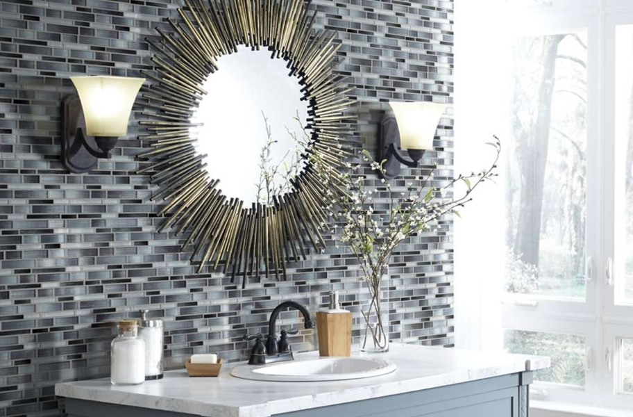 Shaw Silverton Glass Mosaic - Smoke