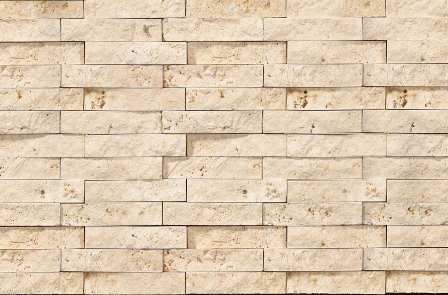 Shaw Split Face Natural Stone Mosaic - Ivory