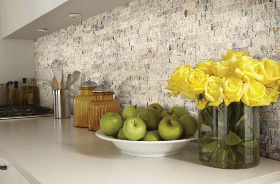 Shaw Split Face Natural Stone Mosaic - Latte