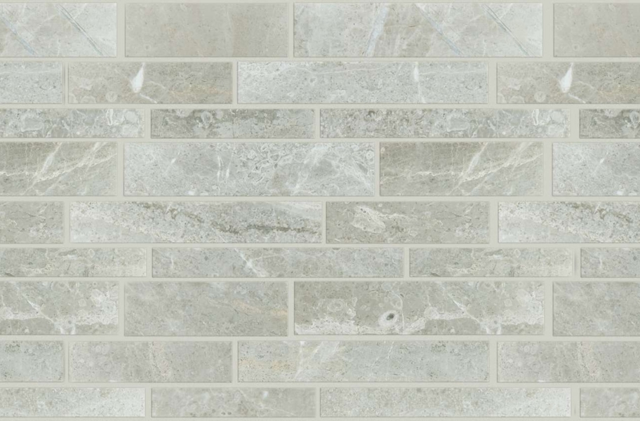 Shaw Rio Natural Stone Mosaic - Linear Ritz Grey