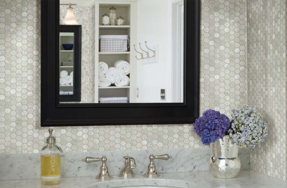 Shaw Rio Natural Stone Mosaic - Hex Ritz Grey