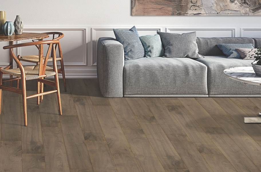 12mm Mohawk Hartwick Waterproof Laminate - Brownstone Maple