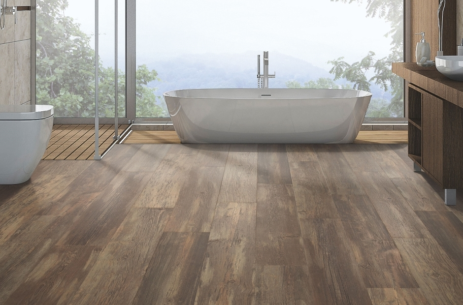 12mm Mohawk Western Ridge Waterproof Laminate  - Flintrock Pine