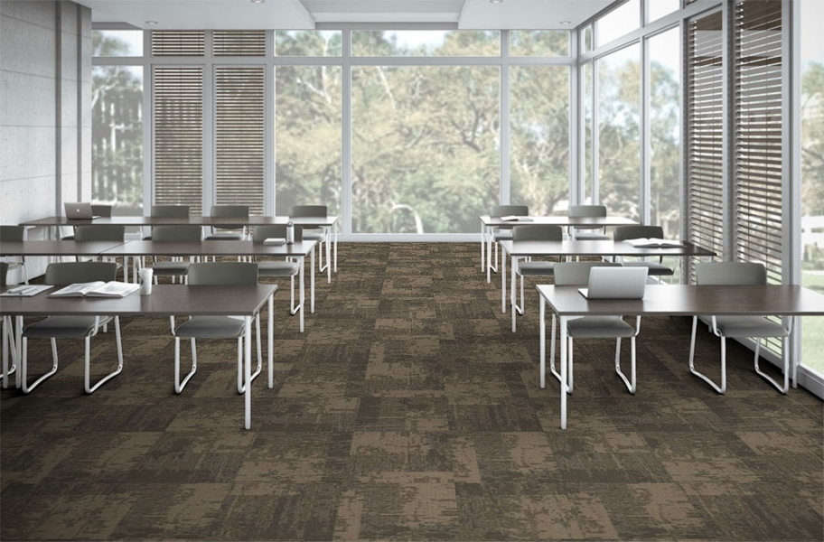 EF Contract Artisan Carpet Tiles - Smoke 1/4 Turn