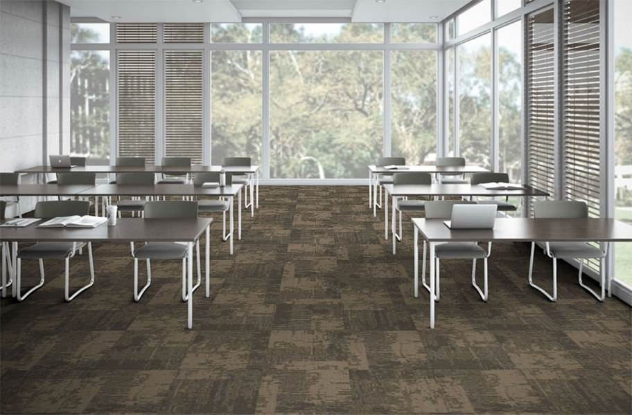 EF Contract Artisan Carpet Tiles - Smoke 1/4 Turn