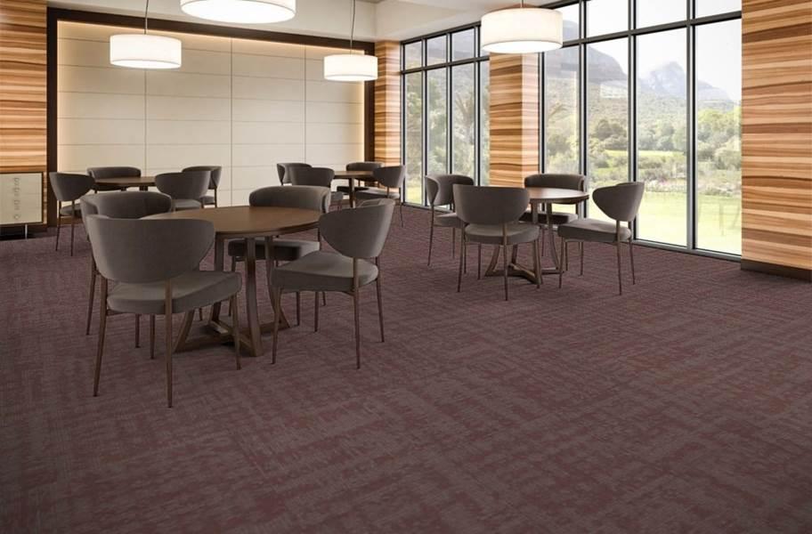 EF Contract Terrain Park Carpet Tiles - Crimson