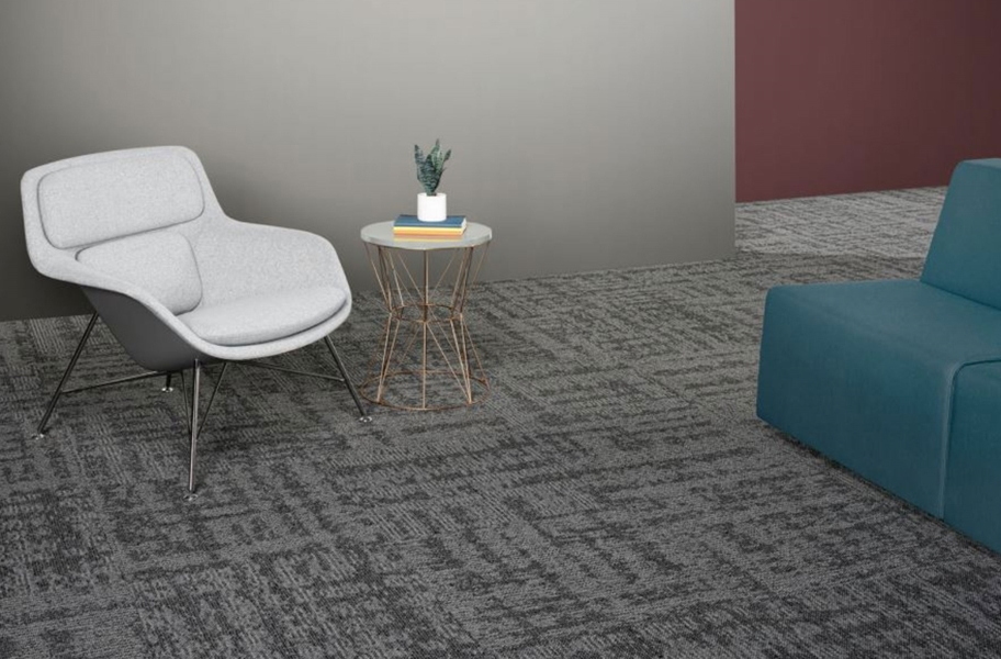 EF Contract Terrain Park Carpet Tiles - Blackstone