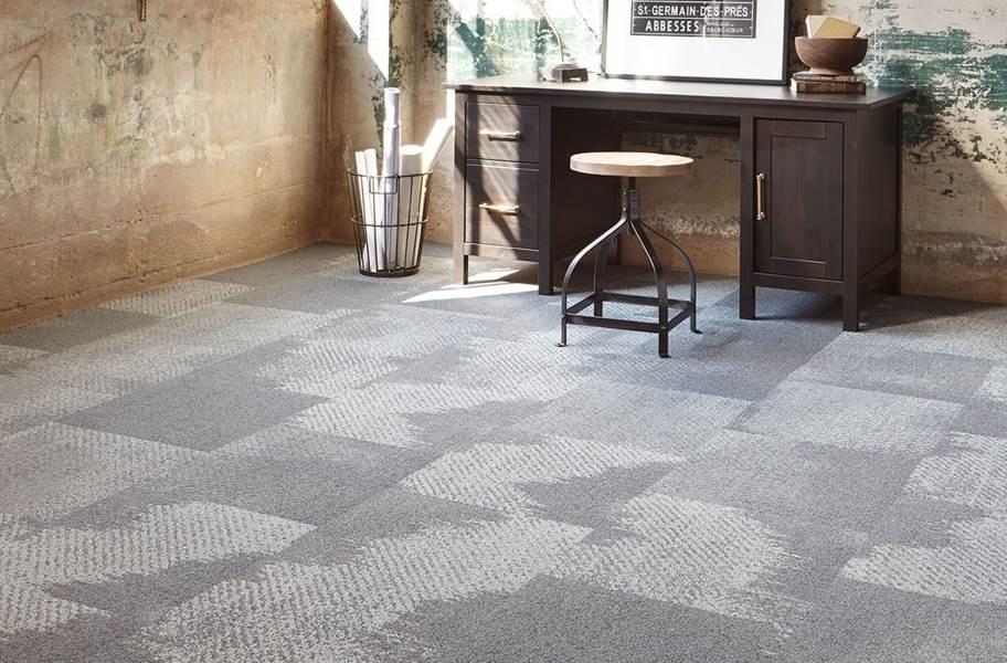 Joy Carpets Burnished Carpet Tile - Graphite