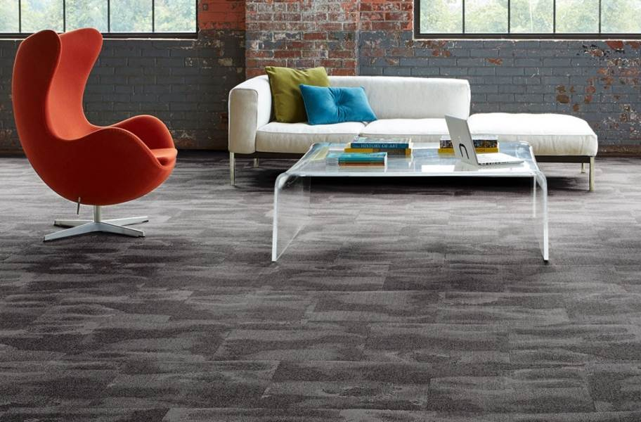 Joy Carpets Oil & Water Carpet Tiles - Graphite