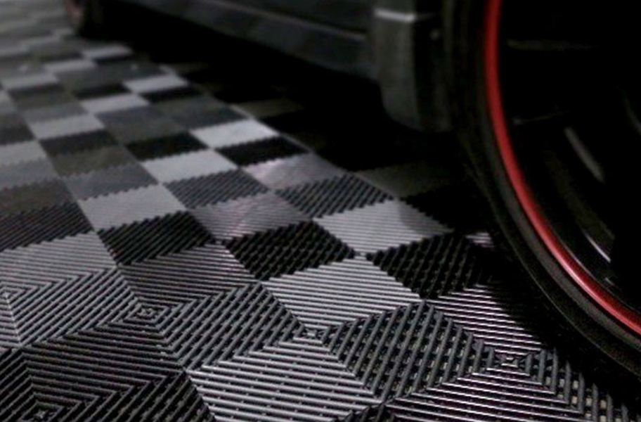 Grid-Loc Garage Tiles™ - Diamond tile