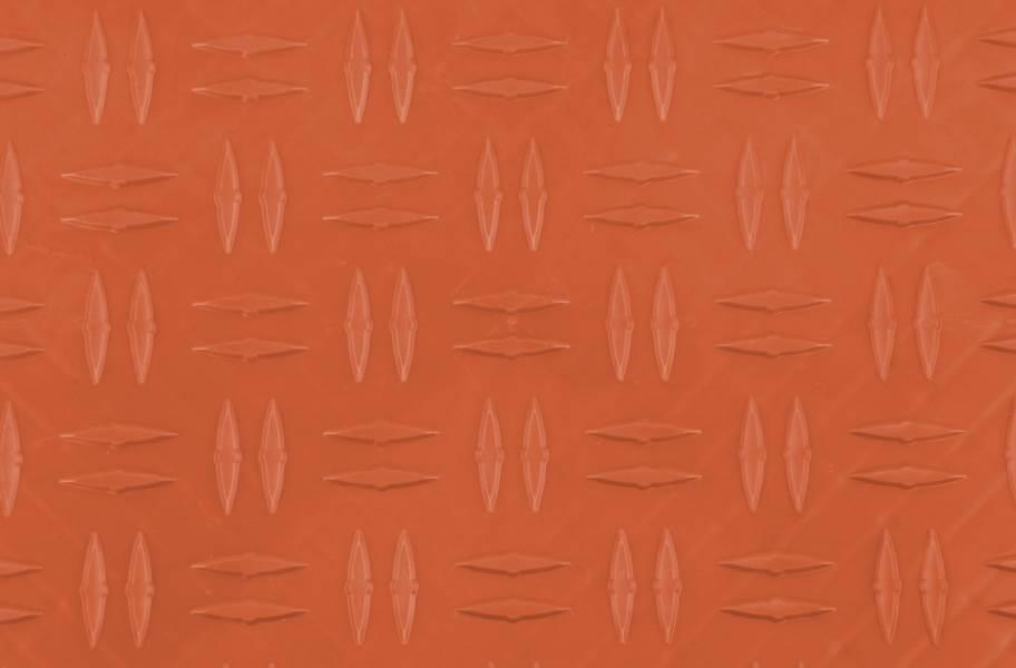 Grid-Loc Garage Tiles™ - Diamond Harley Orange