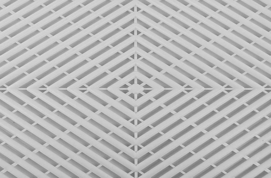 Grid-Loc Garage Tiles™ - Vented Arctic White