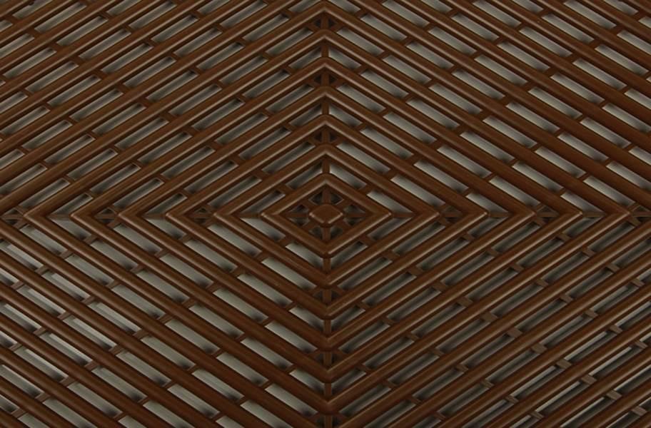 Grid-Loc Garage Tiles™ - Vented Choco Brown