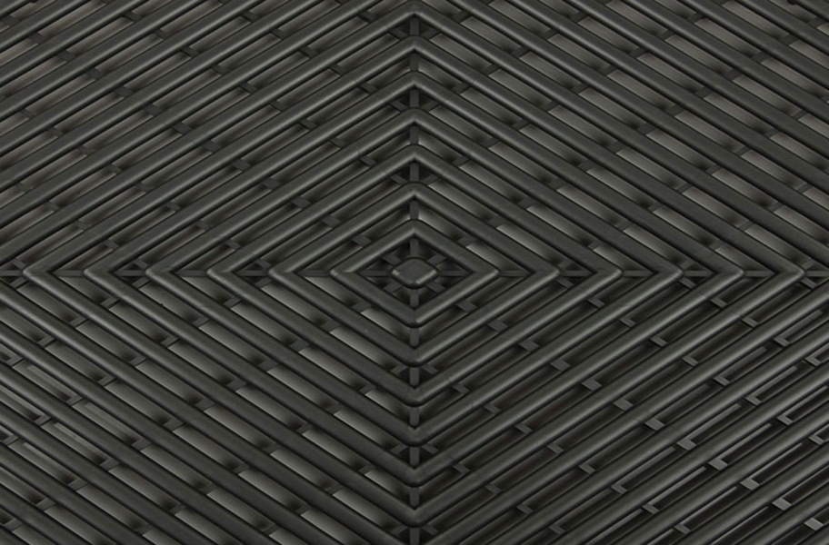 Grid-Loc Garage Tiles™ - Vented Graphite