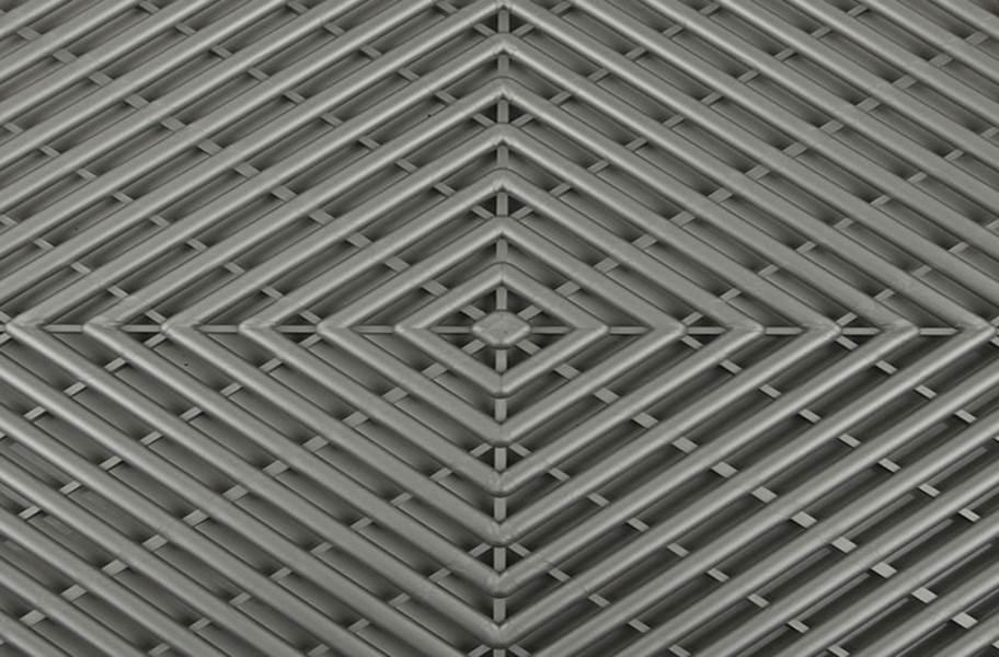 Grid-Loc Garage Tiles™ - Vented Gunmetal