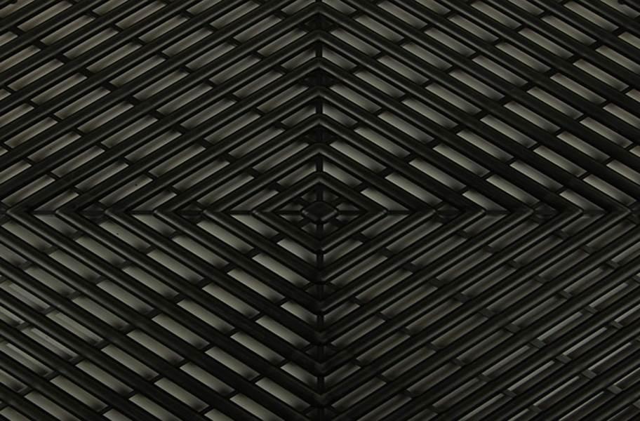 Grid-Loc Garage Tiles™ - Vented Midnight Black