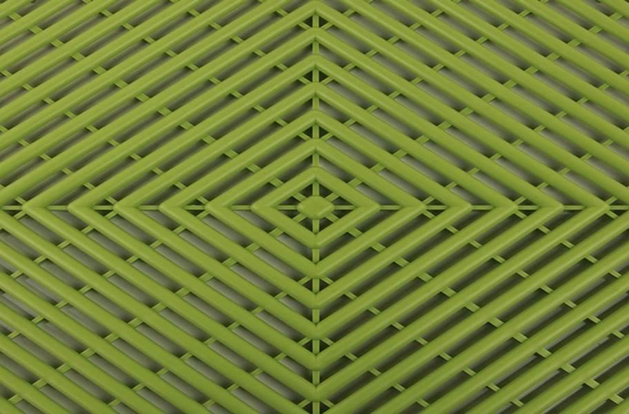 Grid-Loc Garage Tiles™ - Vented Olive Green