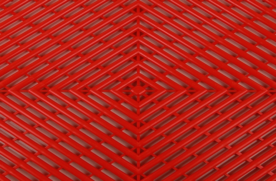 Grid-Loc Garage Tiles™ - Vented Victory Red