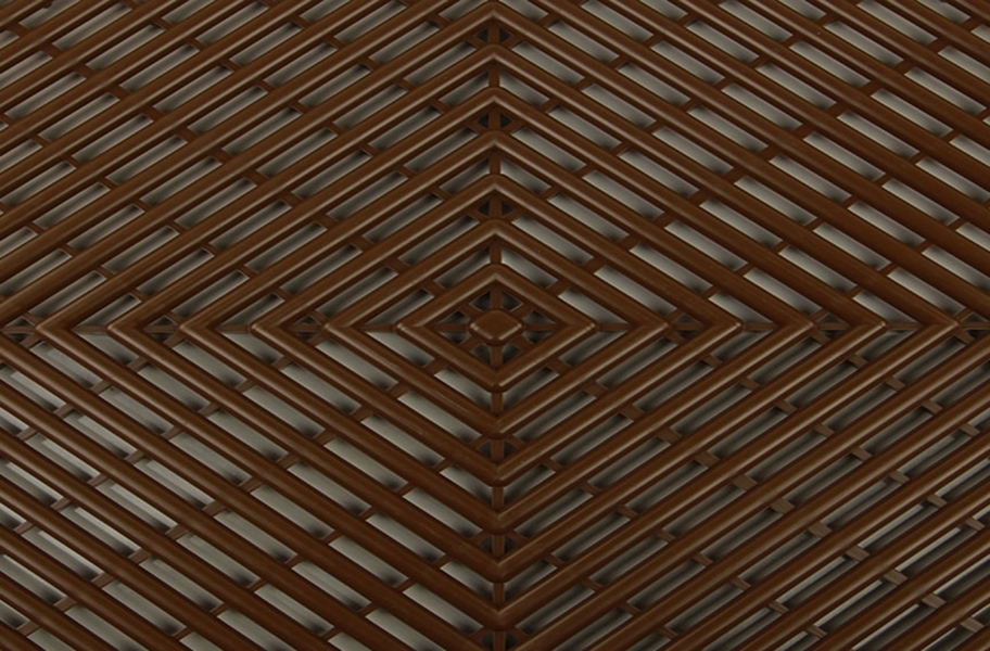 Grid-Loc Garage Tiles™ - Vented Choco Brown