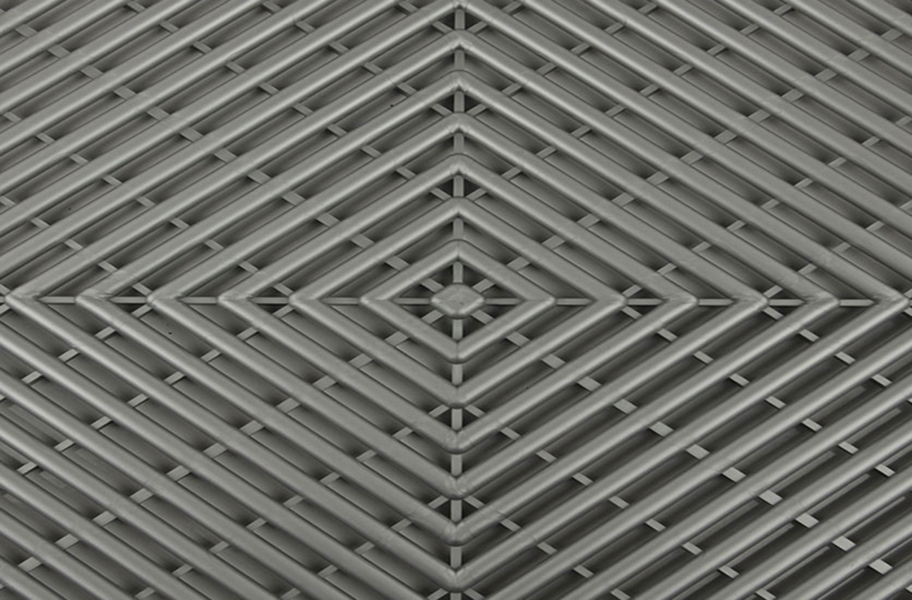 Grid-Loc Garage Tiles™ - Vented Gunmetal