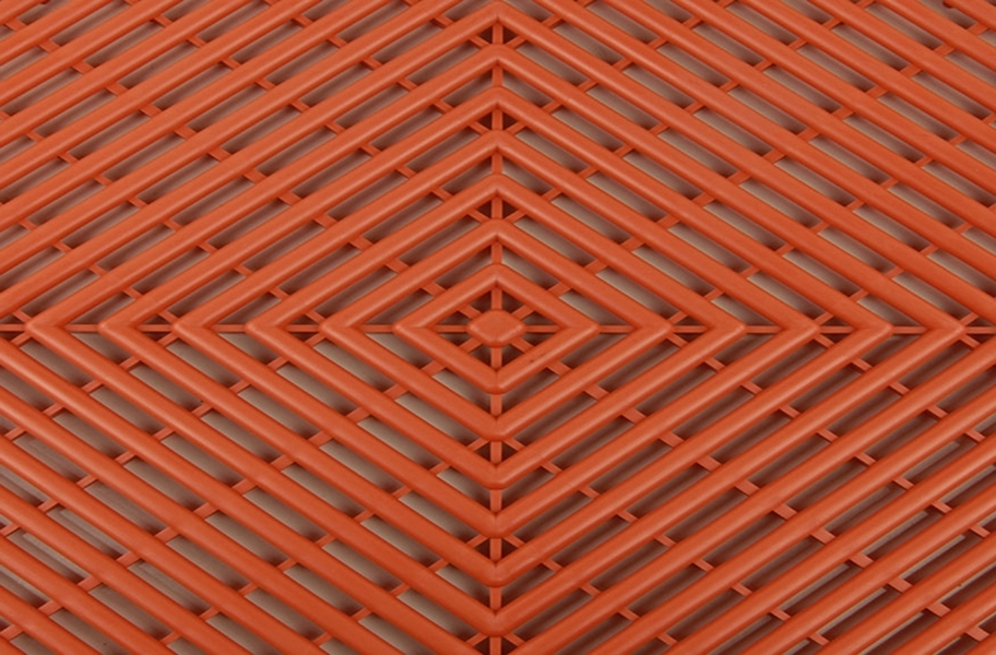 Grid-Loc Garage Tiles™ - Vented Harley Orange