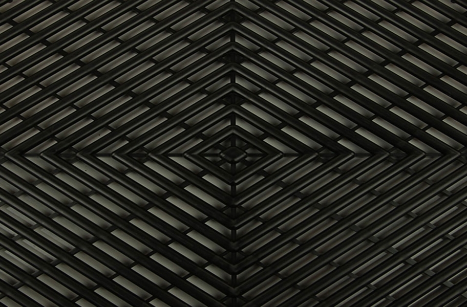 Grid-Loc Garage Tiles™ - Vented Midnight Black