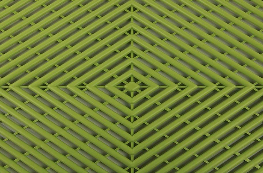 Grid-Loc Garage Tiles™ - Vented Olive Green