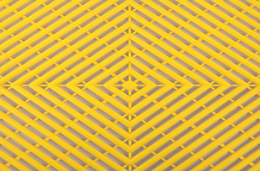 Grid-Loc Garage Tiles™ - Vented Rally Yellow