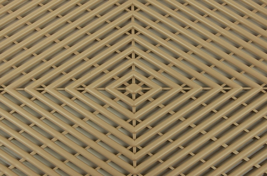 Grid-Loc Garage Tiles™ - Vented Sahara Sand