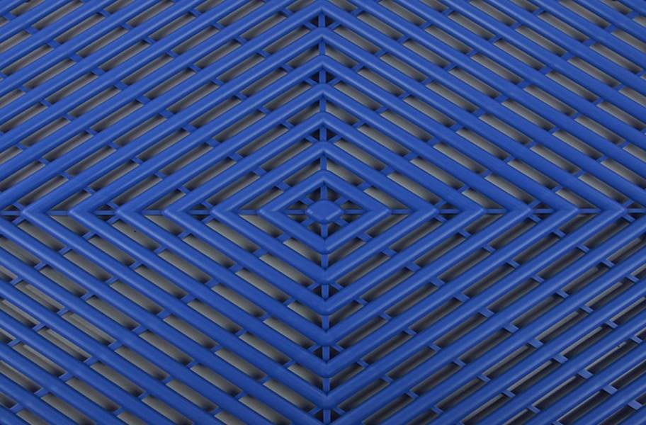 Grid-Loc Garage Tiles™ - Vented Shelby Blue