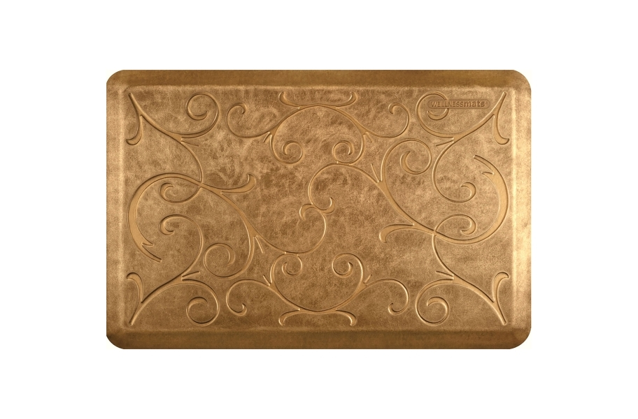 WellnessMats Designer Motif Bella Collection  - Aztec Gold