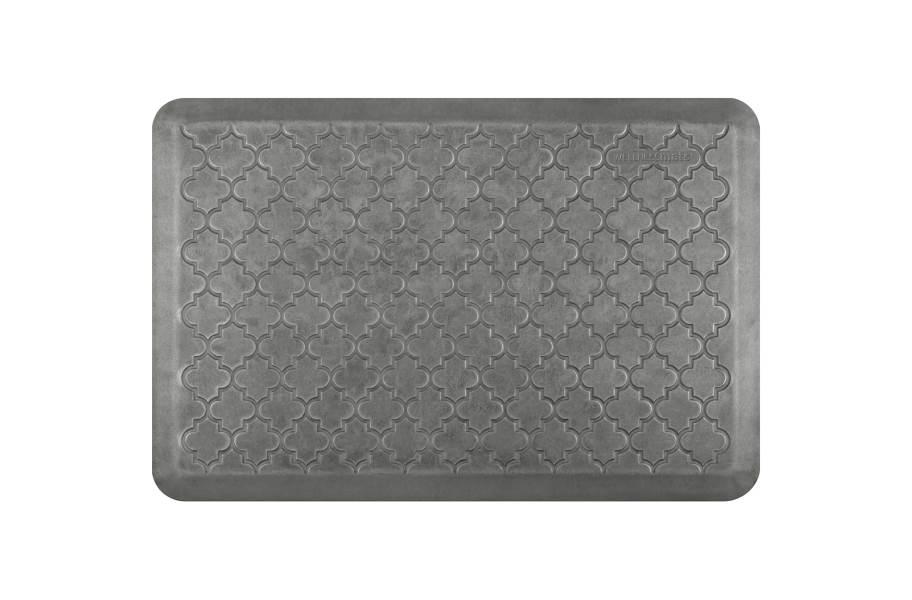 WellnessMats Motif Trellis Designer Collection - Silver Leaf