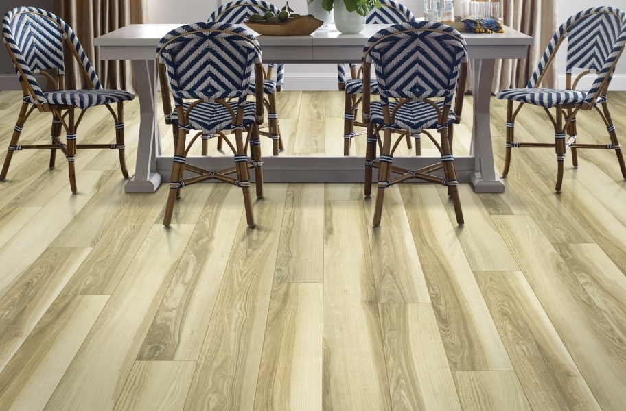 "Shaw Paragon XL HD Plus 7"" Rigid Core Vinyl Planks - Natural Butternut"