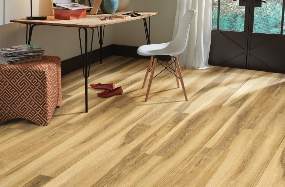 "Shaw Paragon XL HD Plus 7"" Rigid Core Vinyl Planks - Butterscotch Walnut"